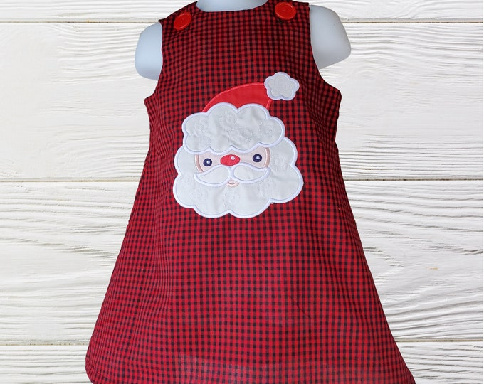 Christmas Girl Dress | Santa Claus  Baby Girl Dress | Holiday Girls Dress | Christmas Personalized Dress | Girls jumper dress |Girls dresses