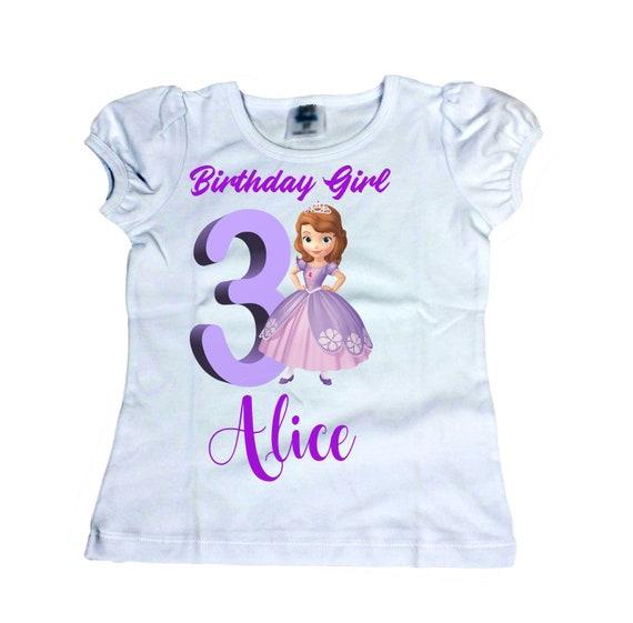 Princess Birthday Shirt Sofia Personalized Disney