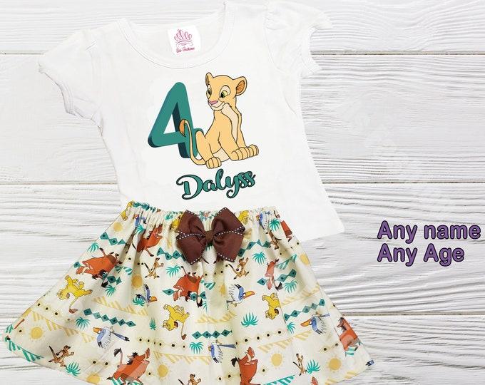 Nala Outfit | Lion King Girl Outfit | Disney Nala Personalized Outfit | Girls Birthday Outfits | Lion King Nala Girls Dress