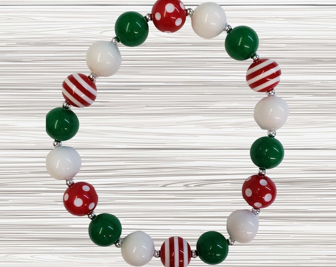 CHUNKY BUBBLE GUM  Necklace | Dark Pink Bubblegum Necklace | Girl Chunky Necklace |Birthday Necklace  | Elastic Necklace | Baby Necklace