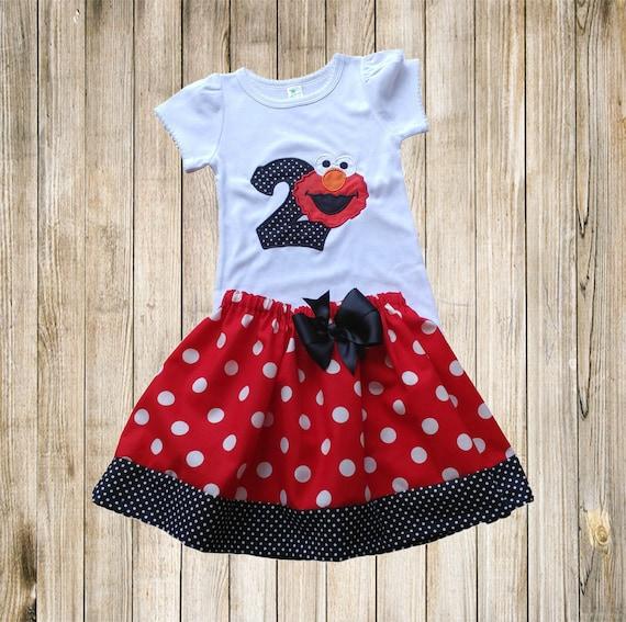 Elmo Birthday Outfit Sesame Street Birthday Shirt Elmo Shirt Etsy