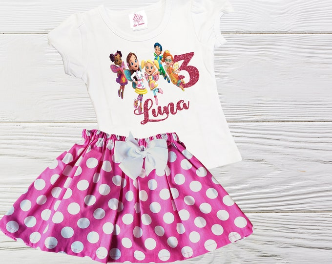 Butterbeans Café Girls Birthday outfit |  Butterbean Café outfit | Girls  Birthday set | Personalized Girls outfit | Girls clothes