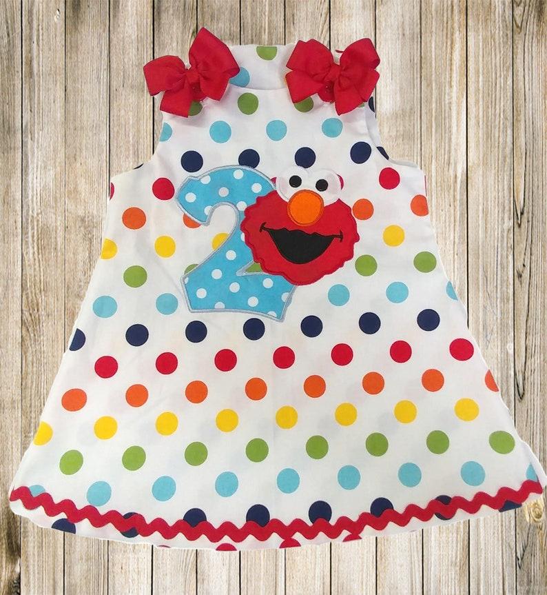 Elmo dress Sesame Street Elmo Birthday dress Sesame Street birthday dress