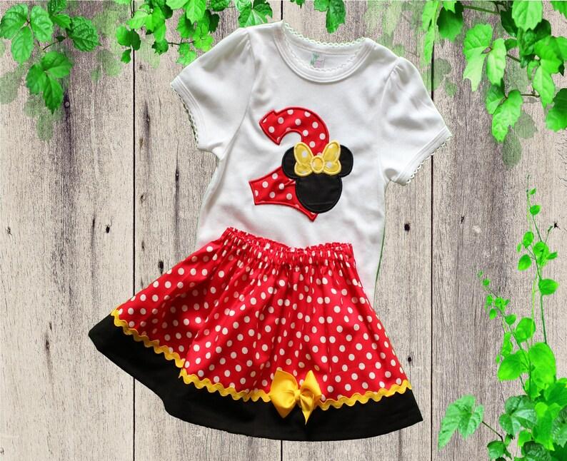 410b12b7f443c Minnie Mouse robes robe danniversaire Disney rouge à pois