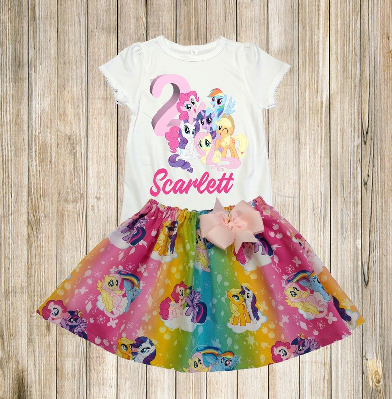 e6fb6dffd My Little Pony birthday outfit My Little Pony shirt skirt | Etsy