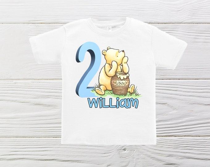 CLASSIC Winnie the POOH SHIRT - Boys Pooh birthday shirt -  Personalized  shirt - Classic  Pooh boys custom birthday shirt.
