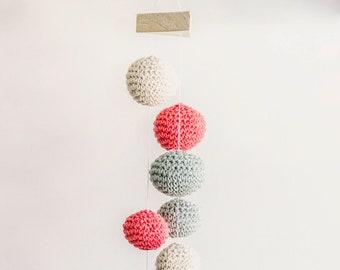 Baby Mobile Hanging, Baby Mobile, Crochet Ball Mobile, Mobile for NewBorn, knit Mobile - Boys/Girls room decoration, Baby Shower gift.