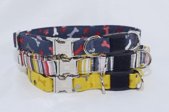 breakaway dog collar choose any print optional personalized etsy. Black Bedroom Furniture Sets. Home Design Ideas