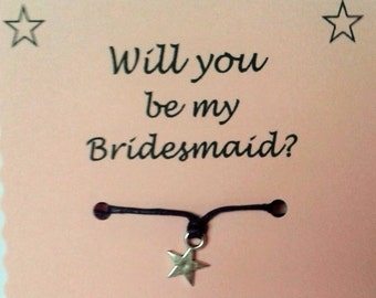 Be My Bridesmaid Wish Bracelet, Bridesmaid Invite, Bridesmaid Keepsake, Bridesmaid gift, Wedding Party, Bridal Party, Gift Bridesmaid