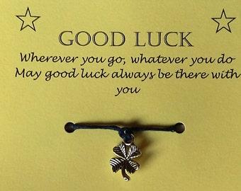 Good luck gift, Cord Wish Bracelet, Friendship bracelet, Charm bracelet, String Bracelet, Gift, Cord Bracelet, Keepsake, Good luck card