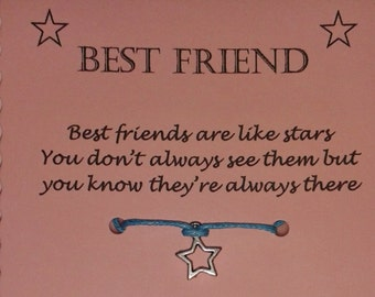 Best Friend gift, Friendship bracelet, Friendship gift, Wish Bracelet, Gift Best Friend, Charm Bracelet, Best friend bracelet, BFF gift