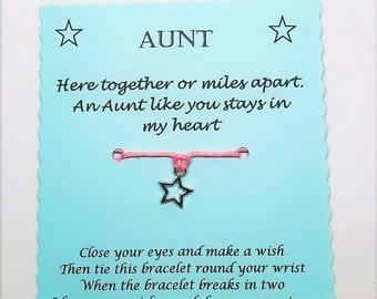 Aunt Wish Bracelet Aunty Auntie Keepsake Gift