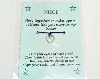 Niece Wish Bracelet Keepsake Gift