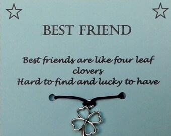 Best Friend Wish Bracelet, Best Friend gift, Friendship bracelet, Charm Bracelet, Cord Bracelet, Friend Bracelet, Friend gift, BFF gift