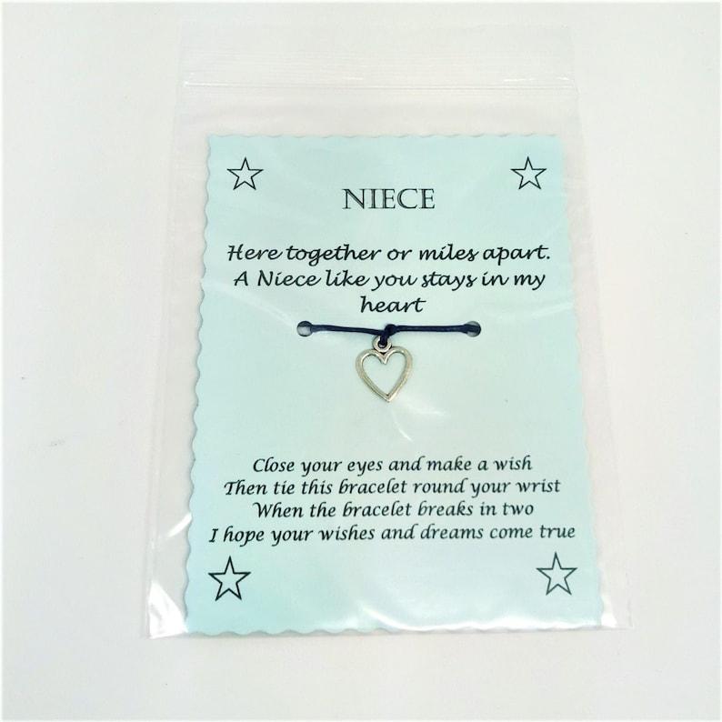 Niece Wish Bracelet Keepsake Gift image 1