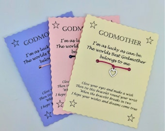Godmother Wish Bracelet Keepsake Gift