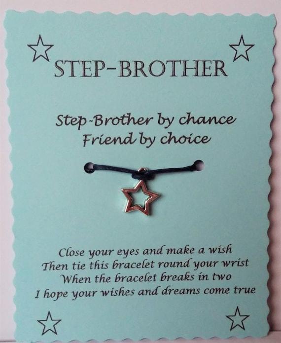 Step Brother Wish Bracelet Christmas Keepsake Gift Idea Etsy