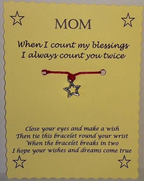 Christmas Wish Family Friendship Gift Wish Bracelet Step Mum Xmas