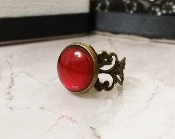 Victorian jewelry, victorian ring, red stone, gothic victorian jewelry, gothic ring, gothic jewelry, vintage ring, vampire jewelry