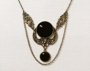 Collana gotica vittoriana gothic victorian necklace Post Mortem