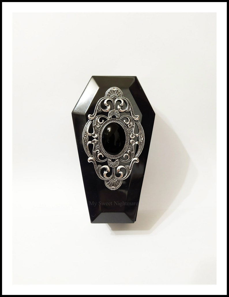 jewel case resin coffin gothic accessories gothic gift trinket tray goth Gothic home decor