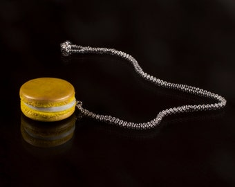 French Macaron Necklace - Non Edible Food Jewellery