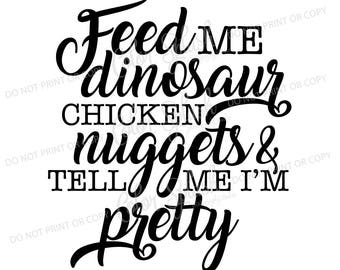 feed the dino etsy Tracks Dinosaur Valley feed me dinosaur chicken nuggets svg dxf eps clipart svg cuttables clip art cricut silhouette cutting file