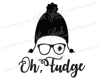 Oh Fudge | svg, png, eps, dxf, cut file, cricut file, silhouette cameo file, cuttable