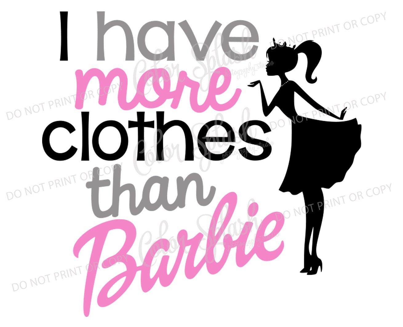 Barbie Svg Cutting File Cricut Girls Clothes Vinyl Cut
