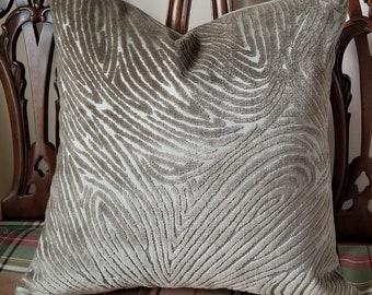 BN13 4.375 yds Donghia Sahco Kent Ice Blue Herringbone Chenille Upholstery Fabric