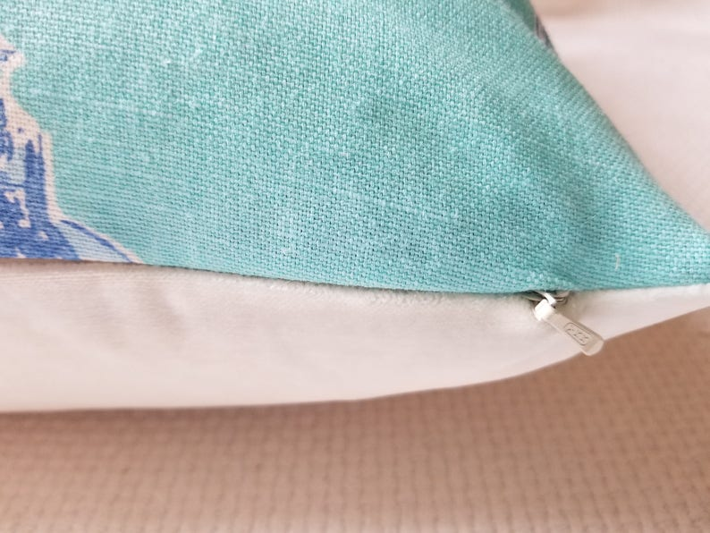 Lee Jofa Lilly Pulitzer BAZAAR Shorley Blue Elephant Custom PillowCover  White Velvet or linen Back All Sizes