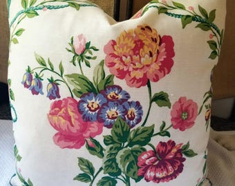 Kravet Pierre Deux French Country GITTENS Framboise custom pillow Large Floral Medallion Pillow Designer Pillow Feather Insert