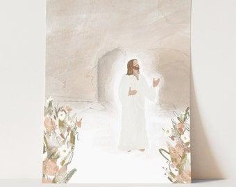 He Is Risen | Christ Illustration