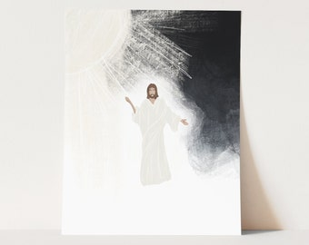 Abide With Me Christ Illustration | Through Cloud and Sunshine