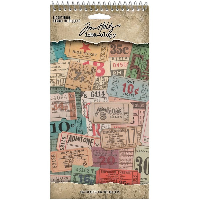 Tim Holtz Ticket Book