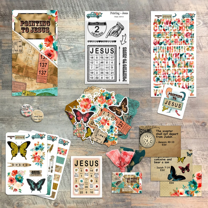 Pointing to Jesus  Devotional Kit for Bible Journaling from image 0