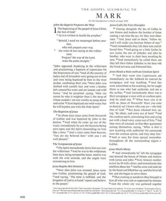 ESV Double colonne journalisation Bible croix (Trutone, Brown, conception de croix Bible en mosaïque), la journalisation de Bible pour illustrer votre foi 010d3a