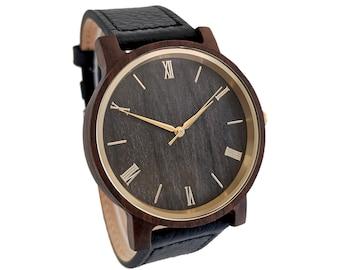 Wooden Watch, Wood Watch, Groomsmen Watch, Boyfriend Gift,  Birthday Gift For Him, Anniversary Gift For Boyfriend, Engraved Wood Watch