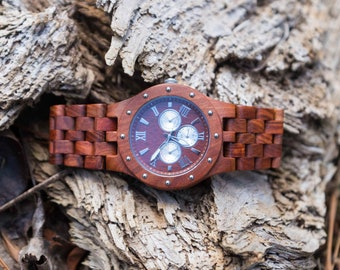 5th Anniversary Gift For Men, Wood Watch, Personalized Wood Watch, Mens Wooden Watch, Boyfriend Gift, Husband Gift,
