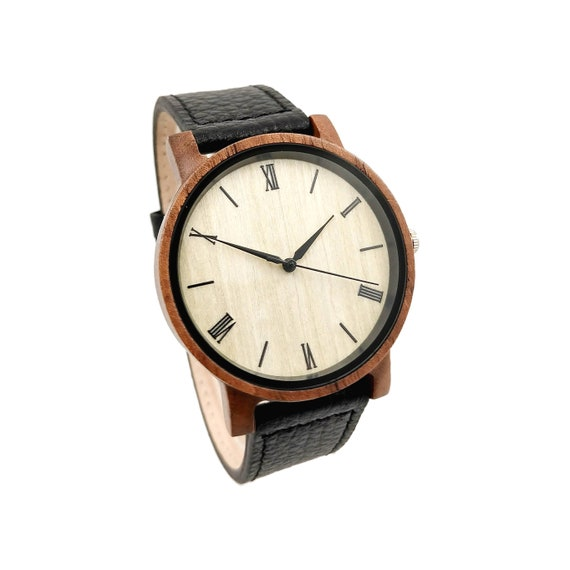bfac6204c42f Mens Wooden Watch Groomsmen Watches Gift Set Personalized
