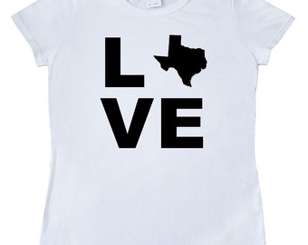 Love Texas Women's T-Shirt by Inktastic