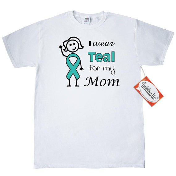 e163131c3 I wear teal for my Mom T-Shirt by Inktastic | Etsy