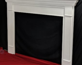 Fireplace Mantel Cover Reface Fits Over Existing Structure Etsy