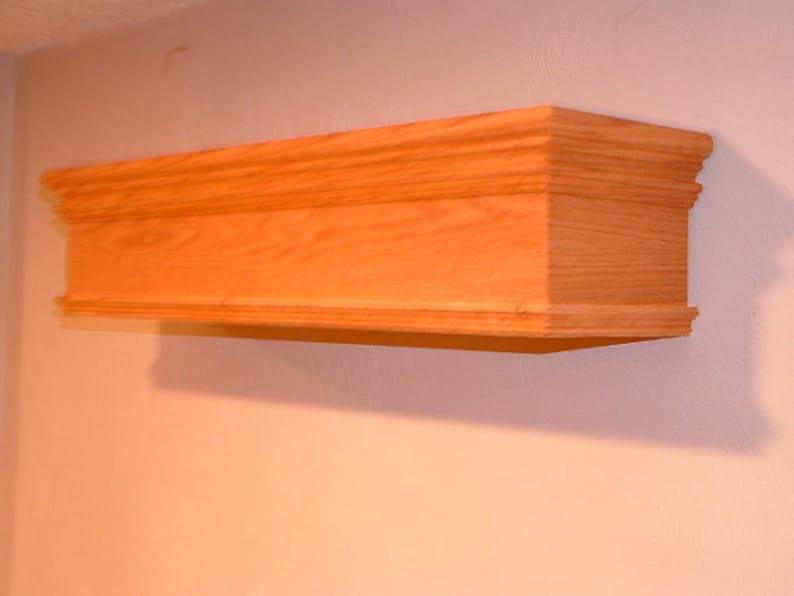 Window Valance Wood Cornice 100% Solid Pennsylvania Hardwood - Custom Built  To Any Size