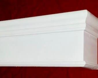 "Wood Cornice Window Valance  *8"" HIGH MODEL* - 100% Pennsylvania Hardwood - Custom Built To Any Size"