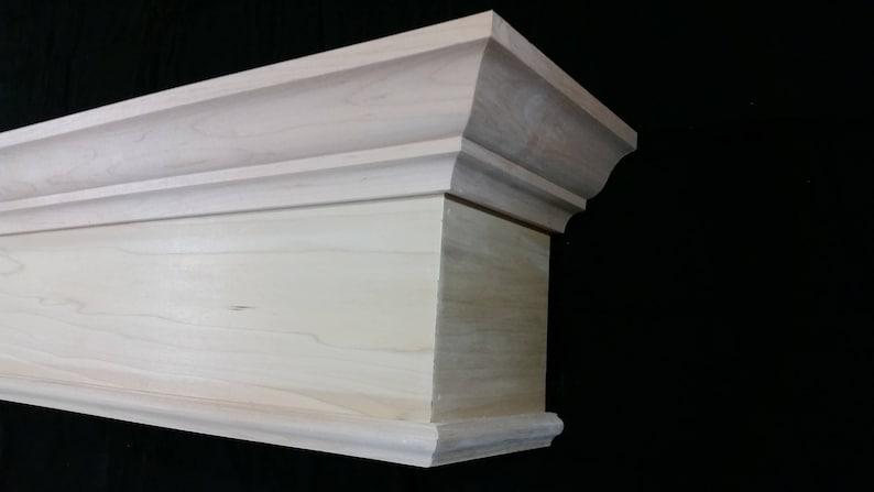 Wood Cornice Crown Molding Option Solid Hardwood Custom Built To Any Size