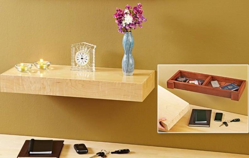 Concealed Shelf   Floating Shelf   Hidden Compartment Shelf   Hidden  Storage Shelf