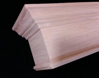 Wood Cornice Window Valance Crown Molding Model - Pennsylvania Hardwood - Custom Built To Any Size