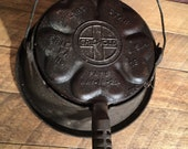Heart star griswold waffle maker