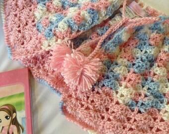 Cotton Candy Baby Shrug, handmade shrug